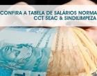 TABELA DE SALÁRIOS NORMATIVOS CCT SEAC & SINDILIMPEZA 2015