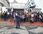 Funcionários da Cursan fazem novo protesto por benefícios atrasados