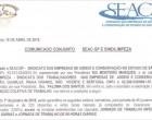Comunicado Conjunto SEAC-SP E SINDILIMPEZA