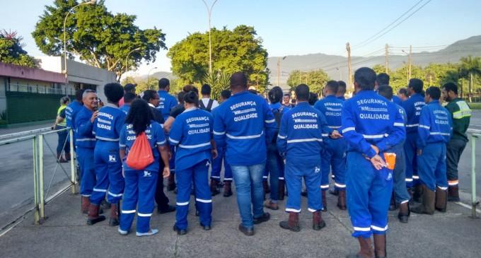 Assembleia com os trabalhadores da empresa NM Engenharia