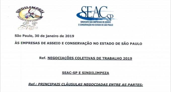Foi assinada a minuta da convenção coletiva de trabalho 2019/2020