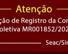 Solicitação de Registro da Convenção Coletiva MR001852/2020 – Seac/Sindilimpeza